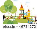 賑やかな公園の風景 46734272