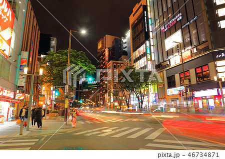 明治通り・中洲中央通り 福岡県福岡市博多区、歓楽街中洲 46734871