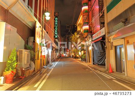 中洲の風景・路地 福岡県福岡市博多区、歓楽街中洲 46735273