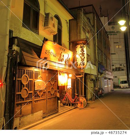 中洲の風景・路地 福岡県福岡市博多区、歓楽街中洲 46735274