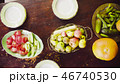 Autumn. Old table with fruits and vegetables 46740530