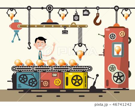 Worker in Bulb Factory 46741242