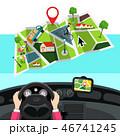 GPS 地図 ベクターのイラスト 46741245
