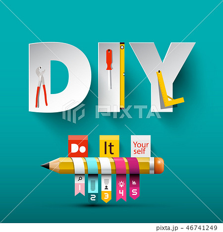 Vector Do it Yourself Design with Paper Letters 46741249