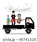 バンド 音楽隊 ロックンロールのイラスト 46741328