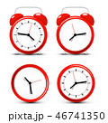 Red Vector Alarm Clock Set Isolated 46741350