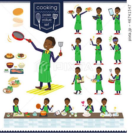 flat type Short hair businessman black_cooking 46741547