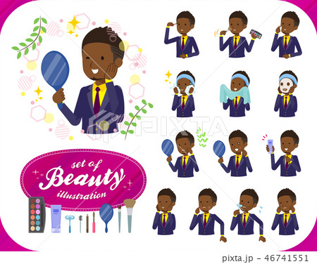 flat type Short hair businessman black_beauty 46741551
