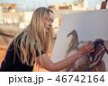 画伯 芸術家 アーティストの写真 46742164