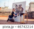 画伯 芸術家 アーティストの写真 46742214