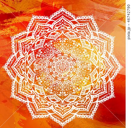 Modern Decorative floral color mandala. 46742790