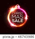 ネオン クリスマス 販売のイラスト 46743986