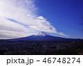 富士山 青空 風景の写真 46748274