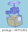 配達 ドローン BOXのイラスト 46751891