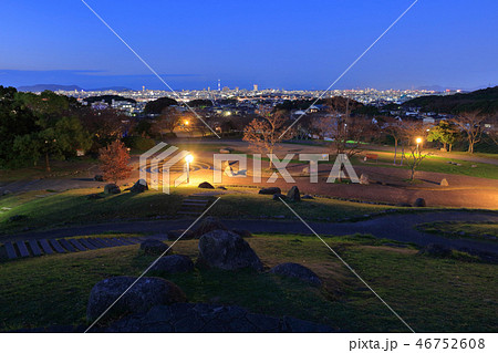 西油山中央公園(シンデレラ公園)の夜景 福岡県福岡市早良区西油山 46752608