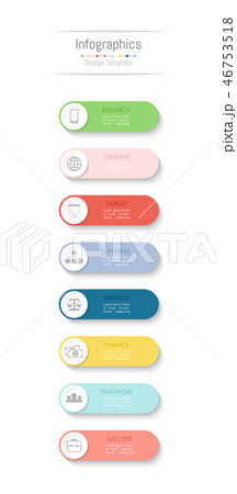 Infographic design elements with 8 options. 46753518