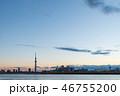 荒川と東京スカイツリー 46755200