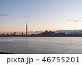 荒川と東京スカイツリー 46755201