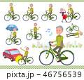 男性 シニア 自転車のイラスト 46756539