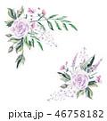 水彩画 お花 フラワーのイラスト 46758182