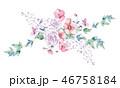 水彩画 お花 フラワーのイラスト 46758184