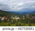 Mountain village landscape with dramatic sky 46758881