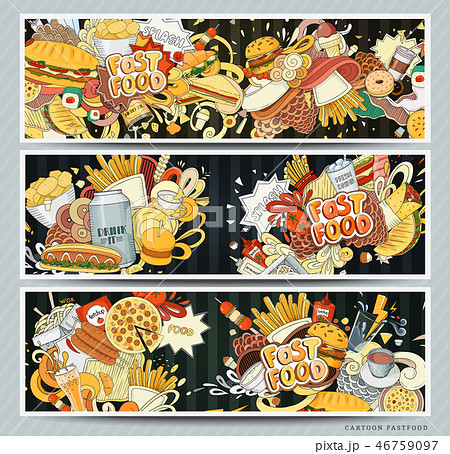 Vector illustration of fast food 46759097