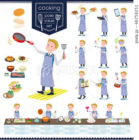 flat type school boy White_cooking 46759251
