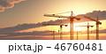工事クレーン 建設用クレーン 工事現場のイラスト 46760481