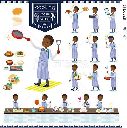flat type school boy black_cooking 46760517