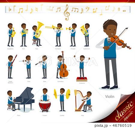 flat type school boy black_classic music 46760519
