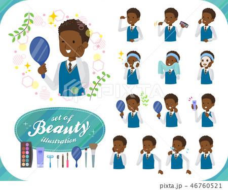 flat type school boy black_beauty 46760521