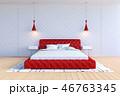 ベッド 寝台 寝床のイラスト 46763345