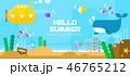 여름 바다 여행 일러스트 46765212