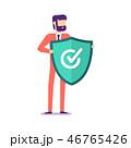 ウイルス対策 ビジネスマン 実業家のイラスト 46765426