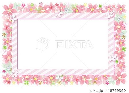 桜の花のフレーム ポストカード 46769360