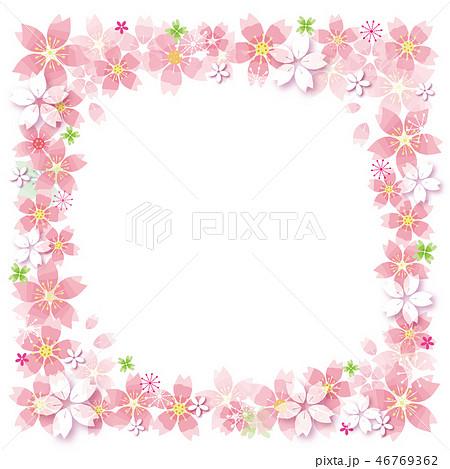 桜の花のフレーム 46769362