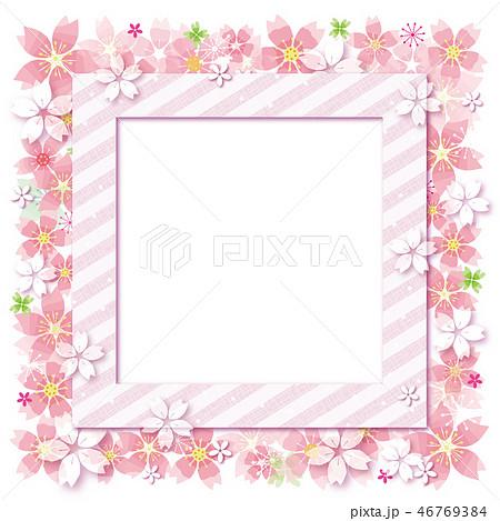 桜の花のフレーム フォトフレーム 46769384