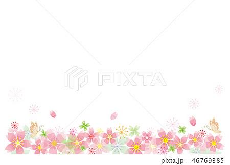桜の花のフレーム ライン 46769385