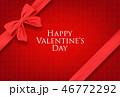 バレンタイン バレンタインデー カードのイラスト 46772292