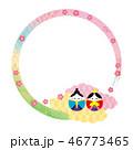 フレーム 雛まつり 桃の節句のイラスト 46773465