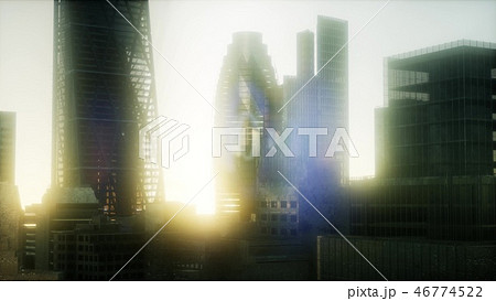concept of London city at sunset 46774522