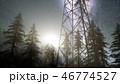 星 鉄塔 人影のイラスト 46774527