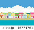 街並み 海 夏のイラスト 46774761