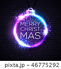ネオン クリスマス バックグラウンドのイラスト 46775292