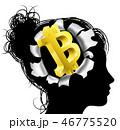 ビットコイン 割れ 調教のイラスト 46775520