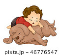 幼児 男の子 男児のイラスト 46776547