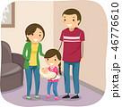 ファミリー 家庭 家族のイラスト 46776610