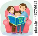 ファミリー 家庭 家族のイラスト 46776612