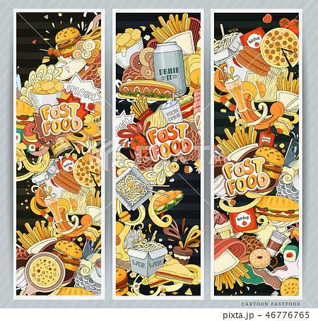 Vector illustration of fast food 46776765